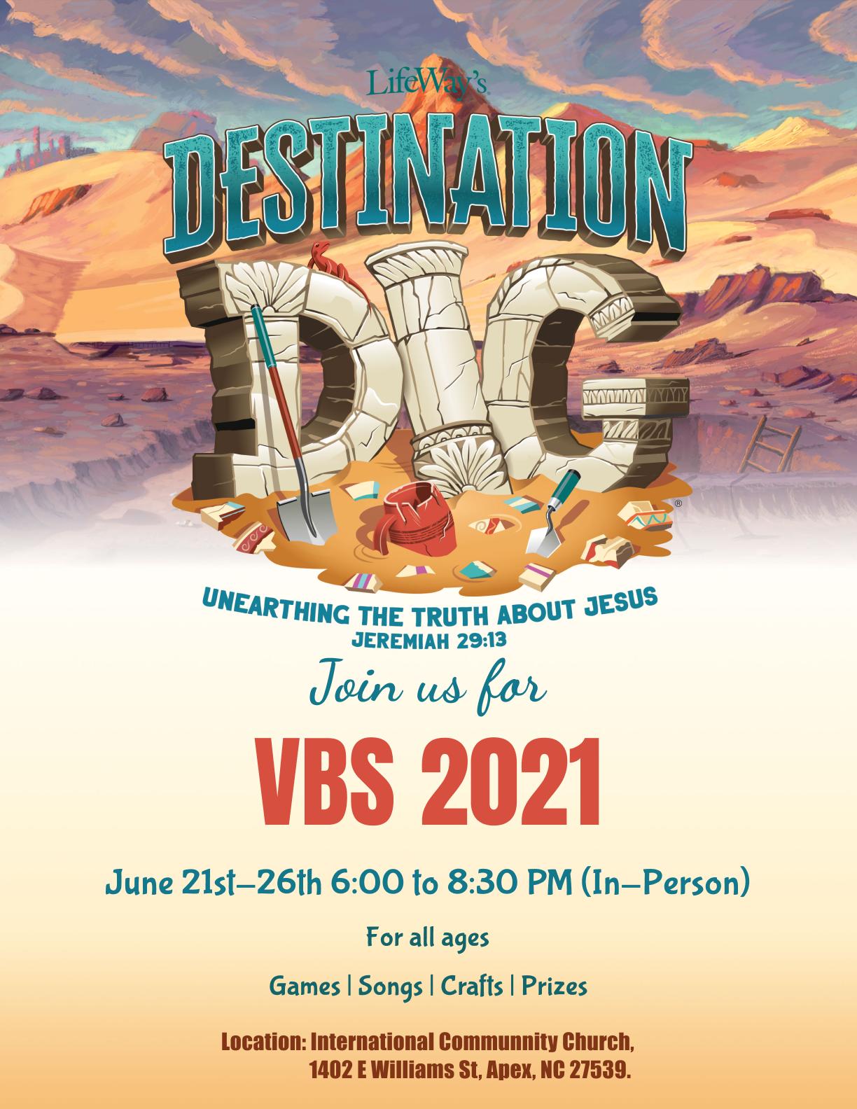 VBS Invitation flyer